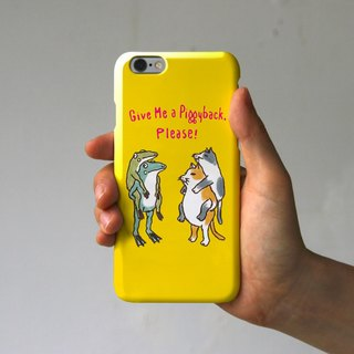 iPhone case piggybacking ~ yellow