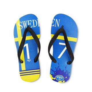 QWQ creative design flip-flops - Sweden - men's [limited]