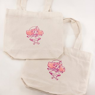 Walking Dales | Hand-printed eco-friendly canvas bag, lunch bag