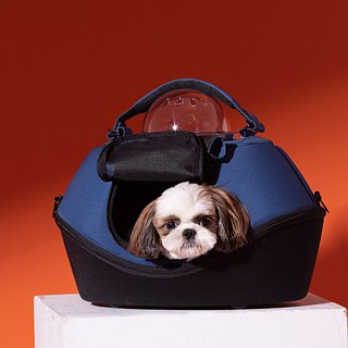 [UFurO Mao Xingren UFO Pet Bag - Navy Blue] Pet out of the cage out of the bag