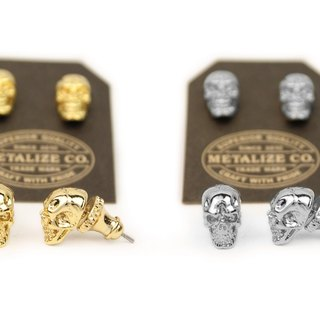 【METALIZE】F.T.W Skull Earrings Type2 F.T.W骷髏耳環Type2
