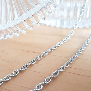 Belle blossoming 2.8mm oval double buckle steel chain (single chain) length 55/65/75/85 cm long chain sweater chain