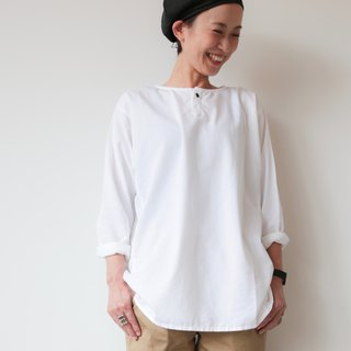 OMAKE Original free top Single Button Shirt Top / White