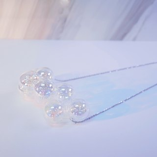 925 Sliver Metallic Bubble Bubbles Necklace (Small)