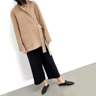 GAOGUO original design brand long-sleeved profile pocket suit wool coat