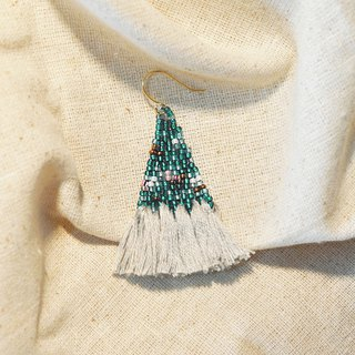 Seafoam Tassel Bead Earrings
