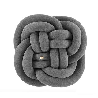 Knot Cushion Wrap Pillow | Flower Deep Weaving Grey Housewarming Gift