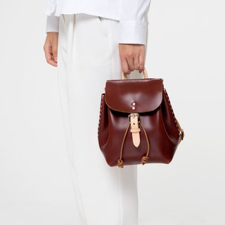 July Xiakar white balloon series top layer vegetable tanned cowhide white mini wild bucket shoulder bag