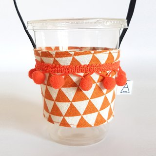 Triangle Geometry Ethnic Hey Hair Balls Fringed Drink Cups / Tangerines