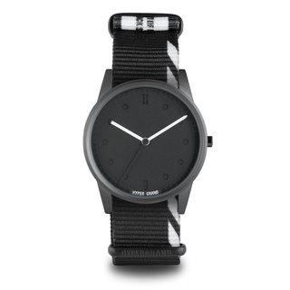 "HYPERGRAND - 01 Basic Series - ""INHIBITION"" TAG Black and White Debris Watch"
