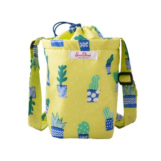 Small cactus fast storage diagonal back waterproof water bottle bag