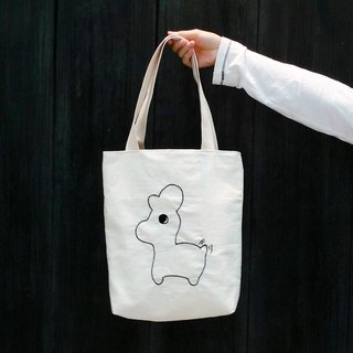 Barefoot rabbit embroidery bag / shoulder bag