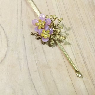 Tung Kee Ling set decoration - pull Tianhua} {falling Sakula Czech glass flower curette flat brass rod inserted hairpin hairpin hair