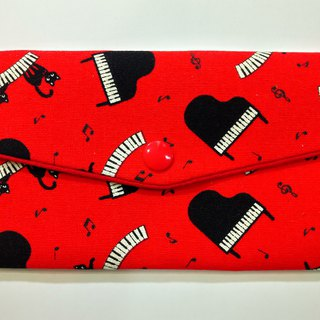 Lucky double red envelope bag / passbook storage bag (12 piano black cat)
