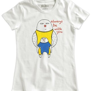 Classic white short-sleeved T-shirt_Always be with you(Female M out of stock)