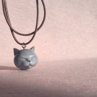 Three-dimensional printing ~ hand-painted microphone cat pendant with wax hand strap