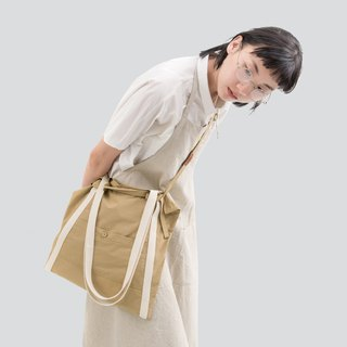 rin ACE TOTE 2.0 - Yellow Khaki Apron Made In A Tote Top Handbag