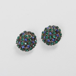 [Egg Plant Vintage] Peacock Treasure Vintage Clip-On Antique Earrings