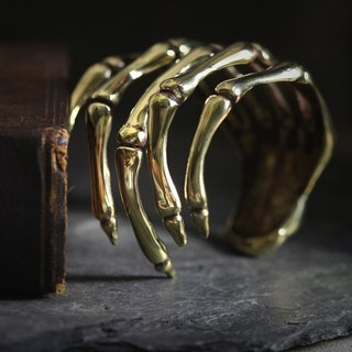 Hand Skeleton Cuff / Bracelet by Defy - Cool Statement Unique Jewelry