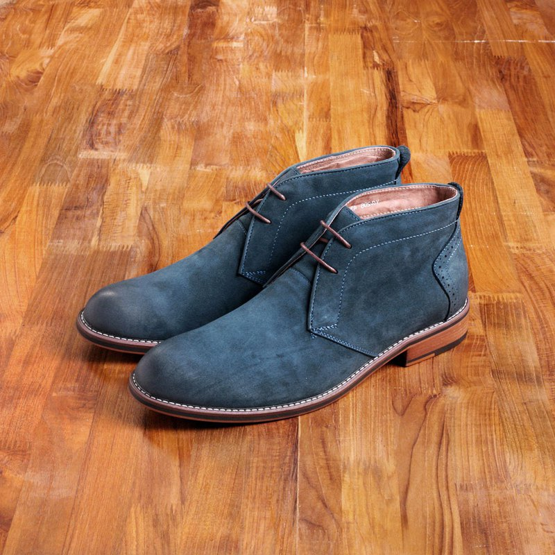 Vanger elegant beauty ‧ European simple frosted desert boots Va206 frosted blue