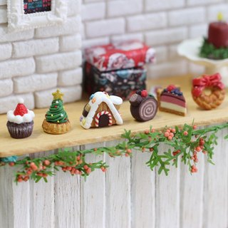 【Christmas】 Pocket Christmas Sweets Earrings Set - Drop Miniature Christmas Dessert Earring Set