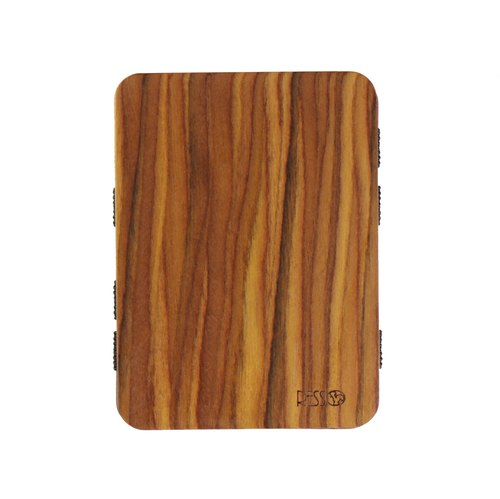 Resso European handmade wooden business card holder timber series - Ironwood
