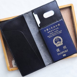 3 ticket holder, passport holder, well-sewn leather material package PASSPORT certificate set Italy