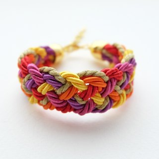 Warm tone rope braided bracelet