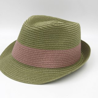 [Paper cloth home] two-color gentleman hat (military green) paper weave