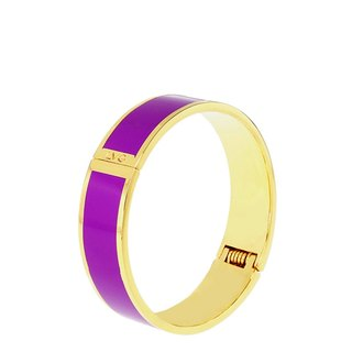 Solid color lilac Cloisonne series solid color bracelet (gold) -11,500,159,019