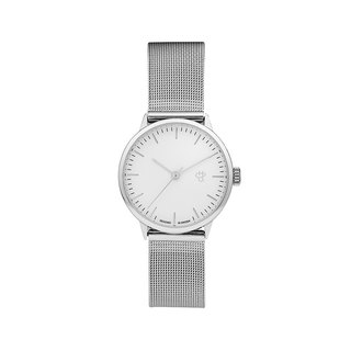 Swedish brand - Nando Mini silver and silver dial - Silver Milan with adjustable watch