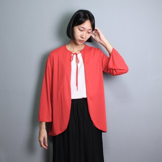 FOAK vintage retro rose red bandage blouse jacket