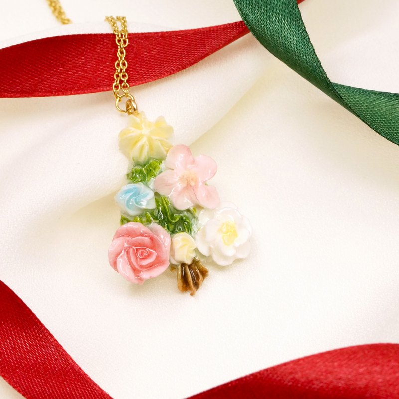 *Christmas Collection* Mini Christmas tree Necklace Customizable