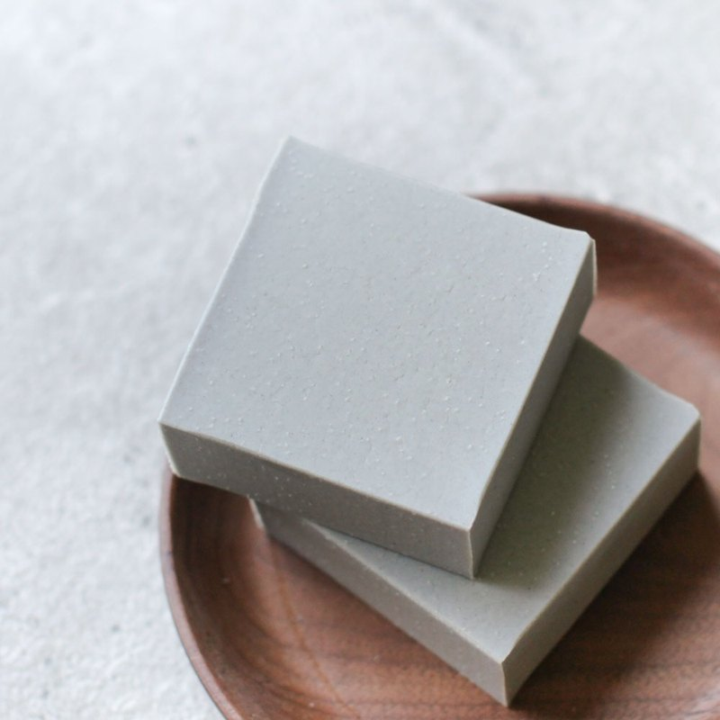 Grey clay cold process soap