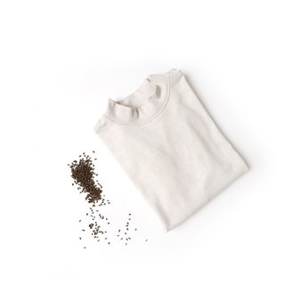 BUFU plant dyeing high collar tee