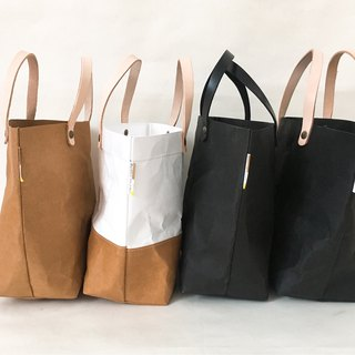 Tote Bag Small : Tyvek and Kraft paper bag