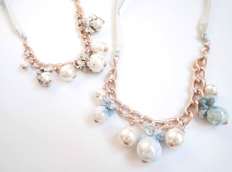 Lace pearls (2-ways) necklace/bracelet