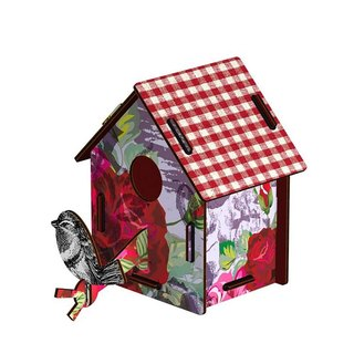 Italy MIHO imported gorgeous wooden design bird house ornaments (CASAS-14) (small) spot