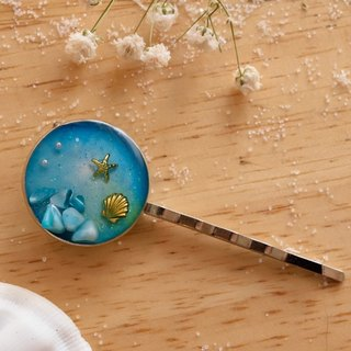 NEW!! Cute & Beauty Sea Ocean Blue Hair Clip Resin