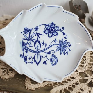 [Good day fetish] Germany vintage royal classic onion flower leaf shape ceramic tray