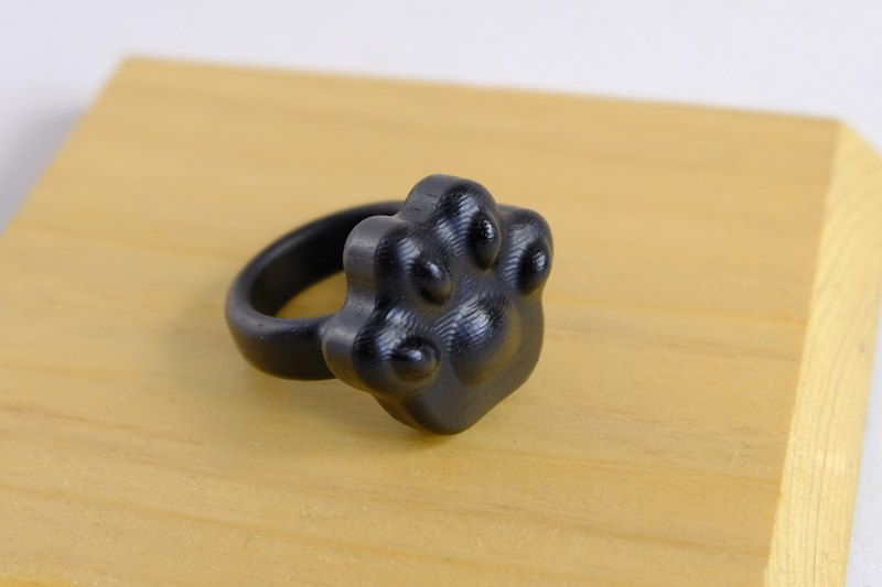 Mirimite creative natural ebony wood ring cute meat ball black pure shape no wafer