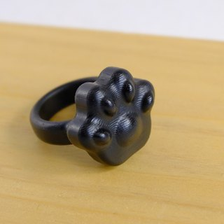 Mirimitt creative natural ebony wood ring cute meat ball black cat slaves essential / healing / cat / gift