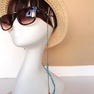 Turquoise Glasses chain Necklace