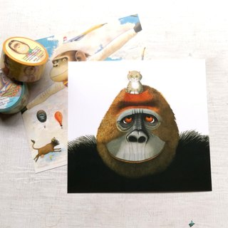 Anthony Brown - gorillas and little stars - Postcard