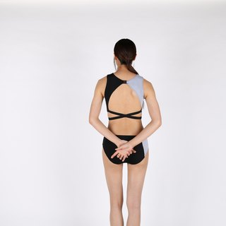 Mystic Quartz set - BlackGray / swimwear / L