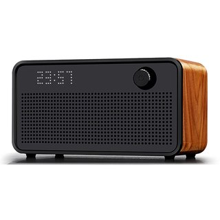 AOORTI :: Vintage Wood Teak HiFi Wireless Bluetooth Speaker/Horn #Clock Display#Solid Wood
