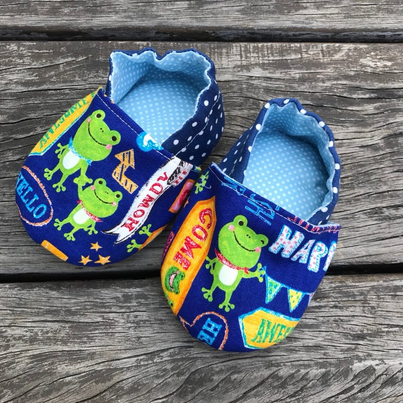 Small frog toddler shoes <baby shoes>