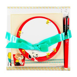 Snoopy Attached Pen Notes Group [Hallmark-Peanuts Snoopy Stationery]