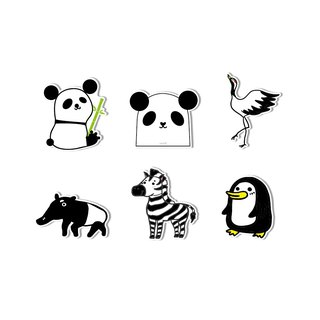 Waterproof sticker - black and white animal
