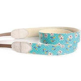 mi81 Neck Strap Blue Flower